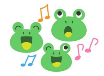 カエル(蛙)イラスト素材03 | イラスト無料・かわいいテンプレート
