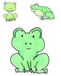 03蛙/カエル/おたまじゃくしイラスト|フリー素材