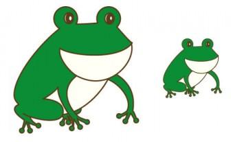 幼稚園児のイラスト・絵カード:カエル(蛙)のイラスト