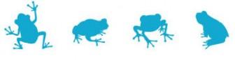 カエルのイラストレーター素材 | 商用フリーで使える影絵素材サイト シルエットデザイン