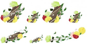 父の日・ネクタイとバラのイラスト素材|Art.Kaede