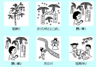 七夕1/夏の季節・7月の行事イラスト