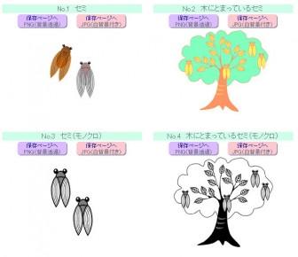 【夏/季節もの】 セミ