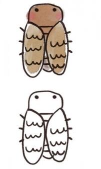 アブラゼミのイラスト(蝉・虫): ゆるかわいい無料イラスト素材集
