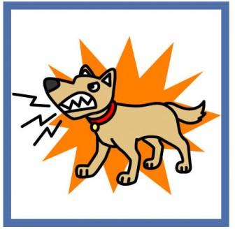 猛犬注意のイラスト