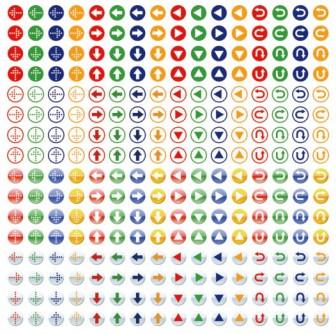 カラフルな矢印アイコン素材(256個) | MaterialandEx