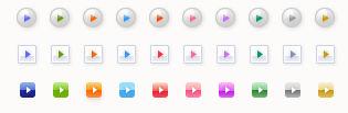 フリーアイコン素材 「矢印・ボタン」 | Adobe Fireworks でアイコン・イラスト