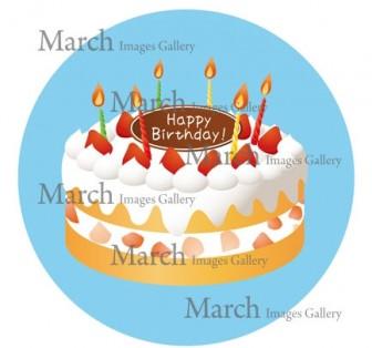 誕生日ケーキのイラスト素材|クリップアートとベクター画像のMarch Images Gallery