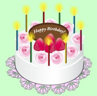 誕生日|無料イラスト|ダウンロード|PNG/バースデーケーキ1