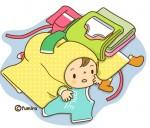 洗濯ものと赤ちゃん(ソフト)