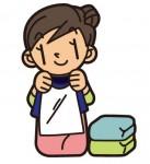 フリーイラスト集・素材集フリーイラスト集【洗濯物 たたむ 女性】