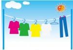 [フリー素材] 干された洗濯物のイラスト (cc-library010011140) | CCライブラリー 【フリー素材集】
