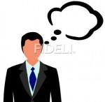 考えている男性のイラスト01のダウンロード|フィデリ・ビジネス文書集