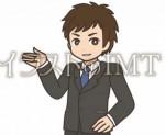 スーツ姿の男性【無料イラストのIMT】商用OK、アップル作