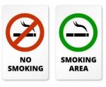 喫煙と禁煙区域の兆候
