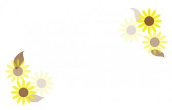 イラスト無料素材集Lemon | お洒落なひまわりのイラスト