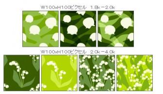 すずらんのイラスト壁紙(春の花)/無料素材