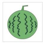 すいか Watermelon イラスト クリップアート|フリーイラストレーター素材