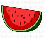スイカのイラスト素材|dakImage