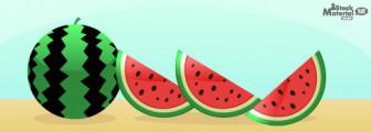 夏においしいスイカのイラスト素材|商用可能な無料(フリー)のイラスト素材ならストックマテリアル