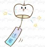 風鈴 イラストNo.1428 - 歯科素材.com