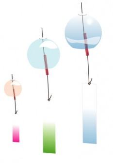 風鈴 | シンプルイラスト・無料素材・クリップアート「Drawing」