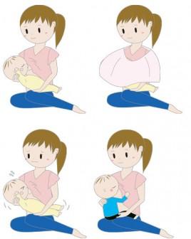 無料の赤ちゃんイラスト素材 PEACE(ピース) » おっぱいを飲む赤ちゃんのイラスト