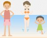 海水浴のイラスト 無料素材 夏季節