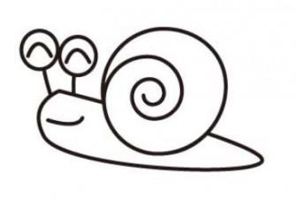 かたつむり【デンデンムシ】(塗り絵バージョン)のイラスト画像【無料こどもイラスト図鑑】