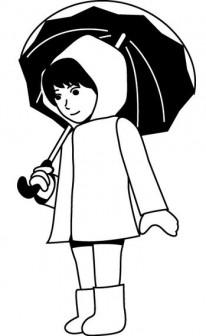 イラストポップの季節の素材   春夏秋冬の行事や風物のイラスト6月2-No15雨具の無料ダウンロードページ