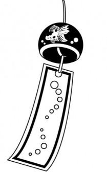 イラストポップの季節の素材   春夏秋冬の行事や風物のイラスト7月2-No17風鈴の無料ダウンロードページ