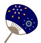 季節の行事 夏 夏休み 夏祭り / うちわ 無料イラスト素材