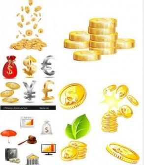 コイン・ドル袋などお金に関する無料ベクターイラスト素材 - All Free Clipart +