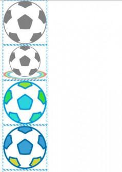 » サッカーボールの透過イラスト/無料フリーイラスト素材/名前シールに   可愛い無料イラスト素材集