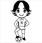 人物 サッカー選手(モノクロ)   無料イラスト・パワーポイント形式テンプレート【素材工場】