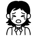 女性3/社会人の顔/人物/無料【白黒イラスト素材】