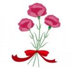 カーネーションの花束のイラスト素材   イラスト無料・かわいいテンプレート