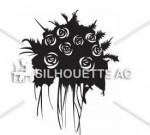 花束|無料イラスト ・イラスト素材「シルエットAC」