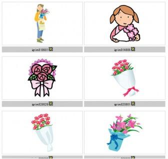 イラスト素材−植物−花束・ブーケ