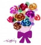 フリー素材:フレーム素材(640pix) ガーリーな花束のイラスト素材。   大人可愛いwebデザイン素材,イラスト制作 tigpig