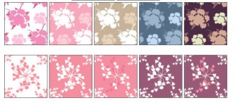 花束のイラスト壁紙素材(ピンクカーネーション風)