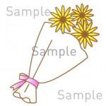 花束の無料イラスト素材 登録不要のイラストぱーく