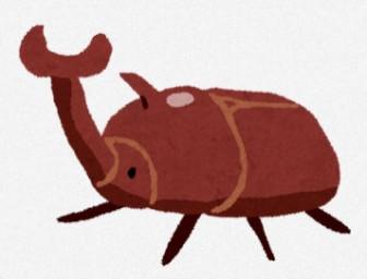 カブトムシのイラスト(オス): 無料イラスト かわいいフリー素材集
