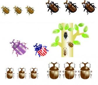カブトムシイラスト素材背景素材フリー素材昆虫アイコン壁紙かぶと虫画像絵カット★素材屋じゅん