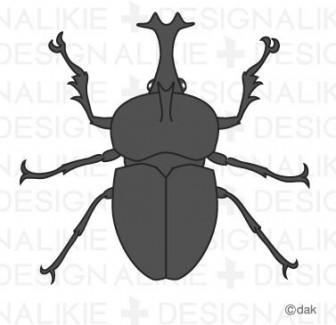 カブト虫フリーのイラスト素材 dakImage