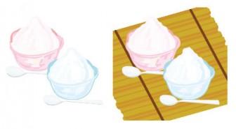 かき氷のイラスト素材
