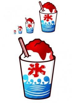 かき氷①の無料イラスト フリー素材 素材のプチッチ