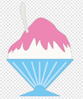 かき氷のイラスト 無料素材 夏季節