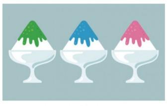 かき氷のイラスト | EC design(デザイン)
