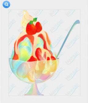 かき氷(いちご)|テンプレートの無料ダウンロードは【書式の王様】
